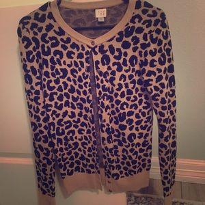 Sweaters - Leopard Print cardigan